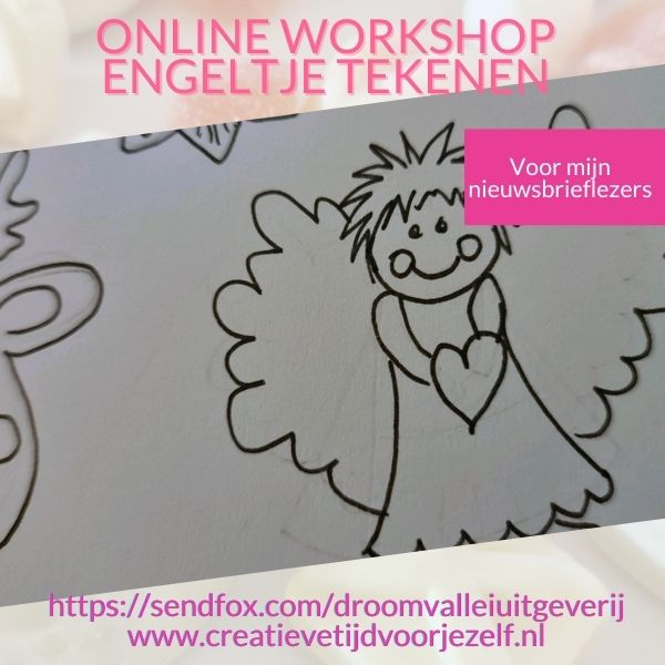 online tekenworkshop engeltje tekenen