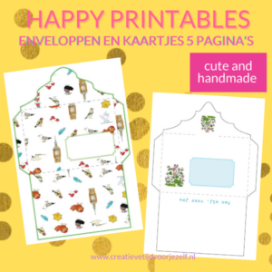 printable kaartjes en enveloppen