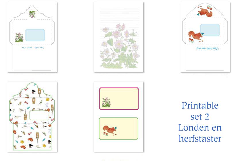 printable set 2 enveloppen londen en herfstasters