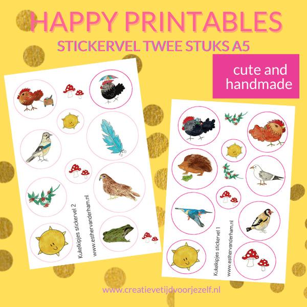 printeble stickerset animals