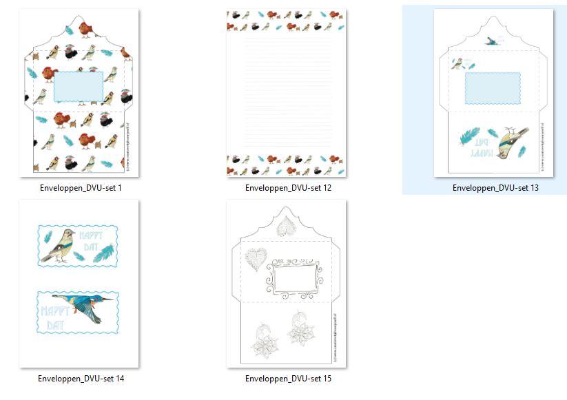 printables set 1