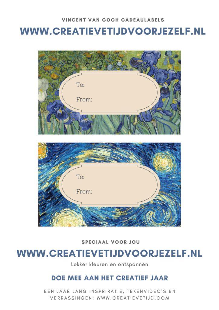 Vincent van Gogh labels