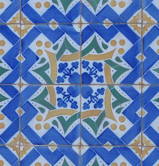 kunstenaar Gaudi - mozaïek