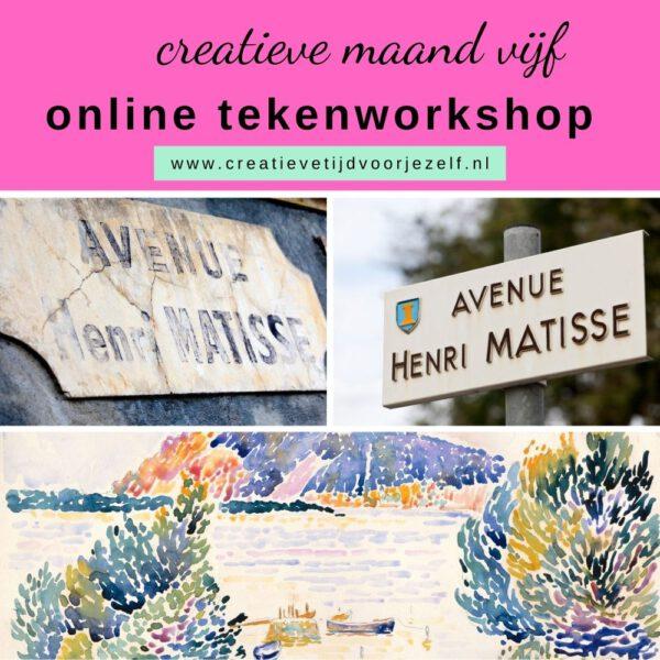 online tekenworkshop Matisse