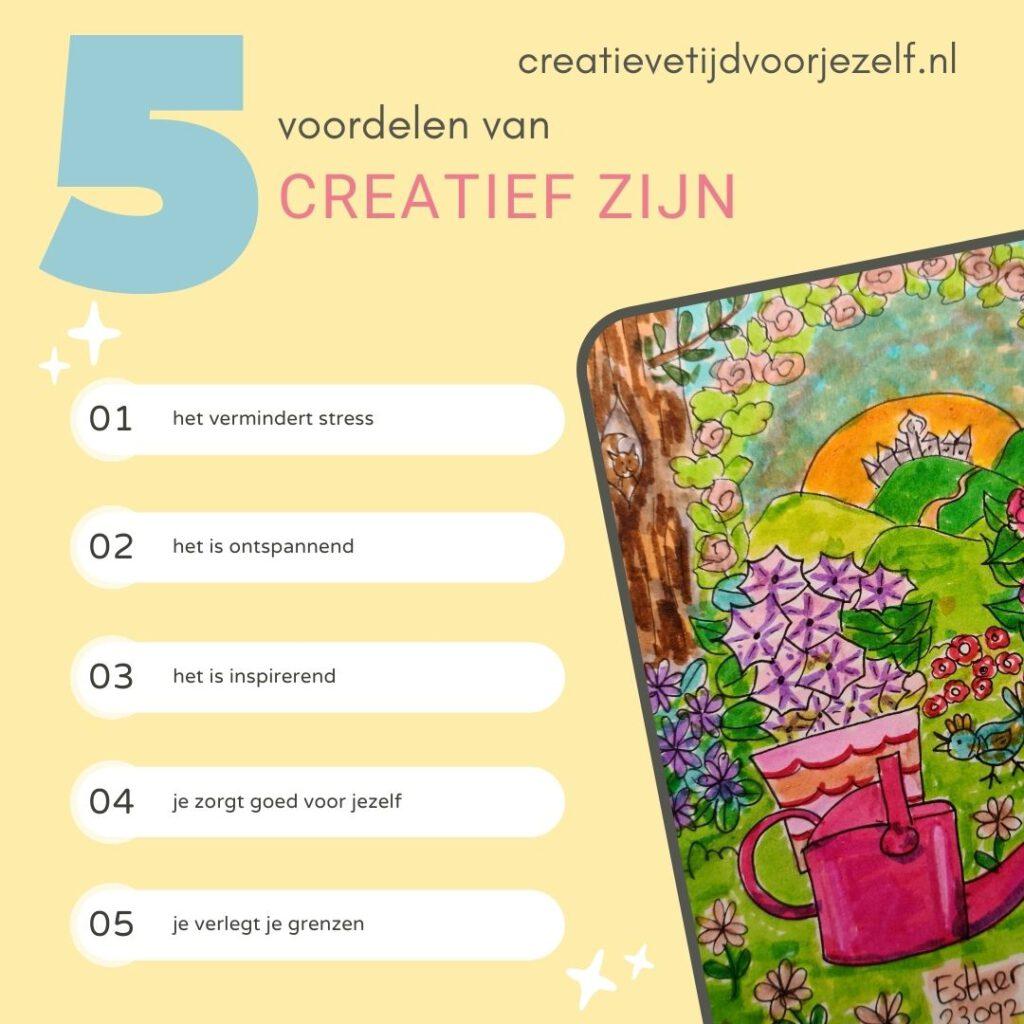 vijf voordelen van creativiteit