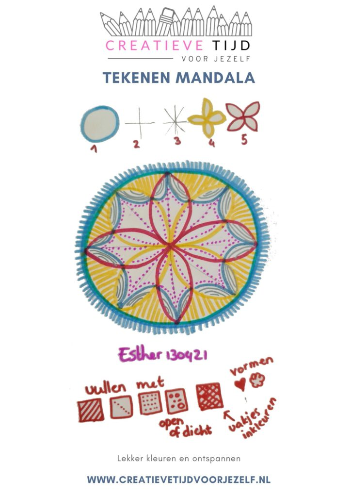 Hoe teken je een Mandala?