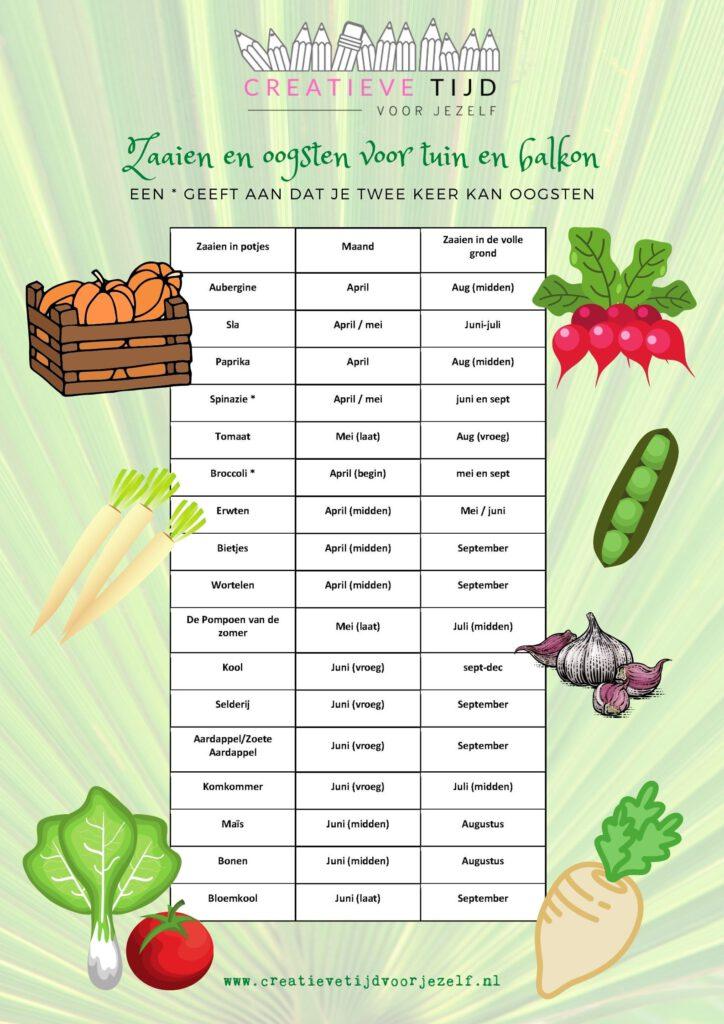 tips voor een eigen groentetuin